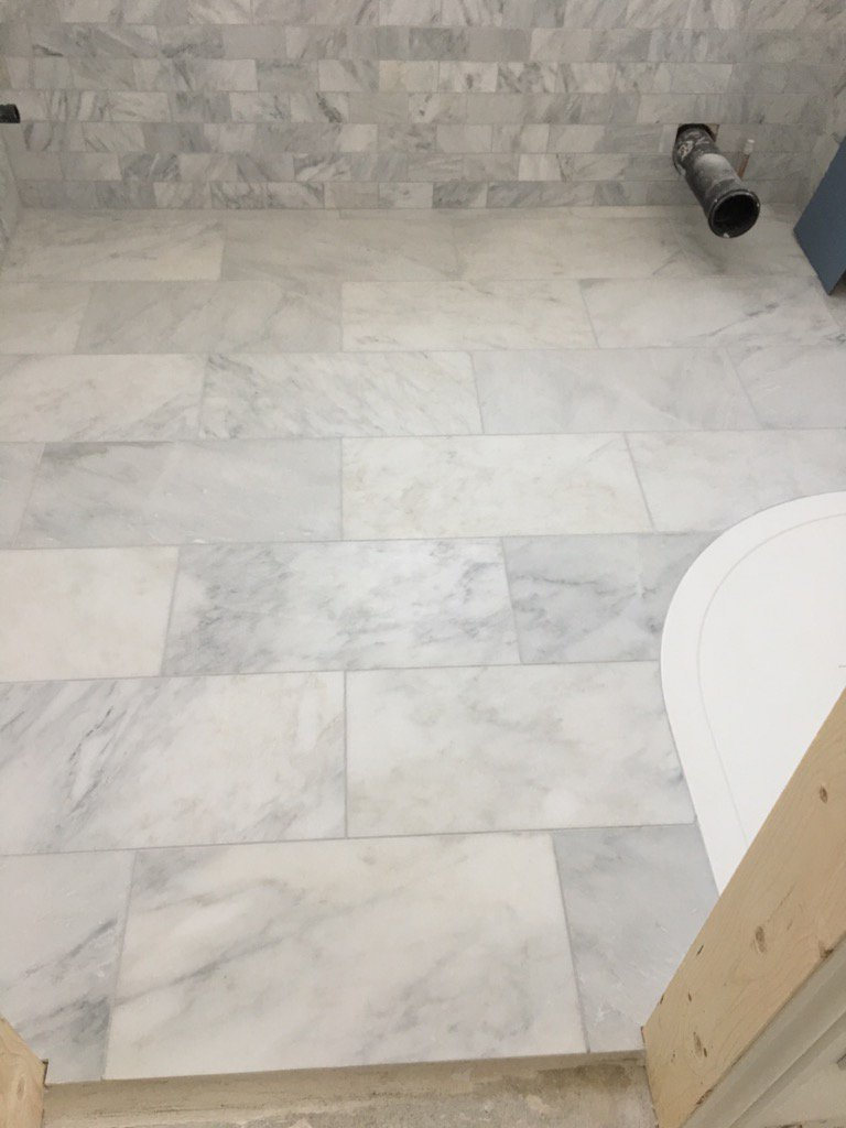Jb tiling brighton photo gallery marble floor tiles around a curved shower tray dailygadgetfo Choice Image